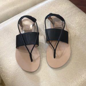 Black sandals brand new size 7